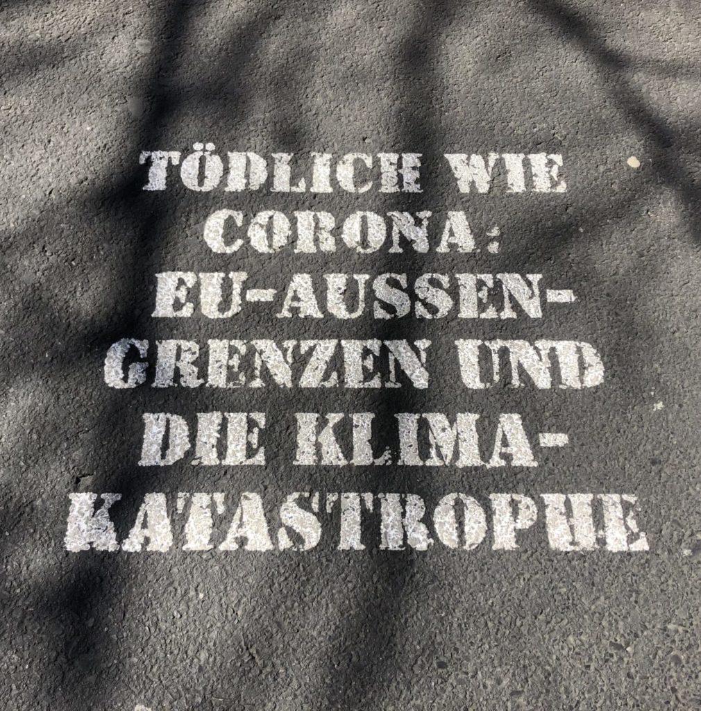 """Deadly as Corona: External EU borders and climate catastrophe."" April 11th 2020"